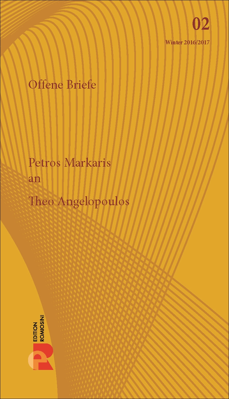 Titelbild für Brief an Theo Angelopoulos