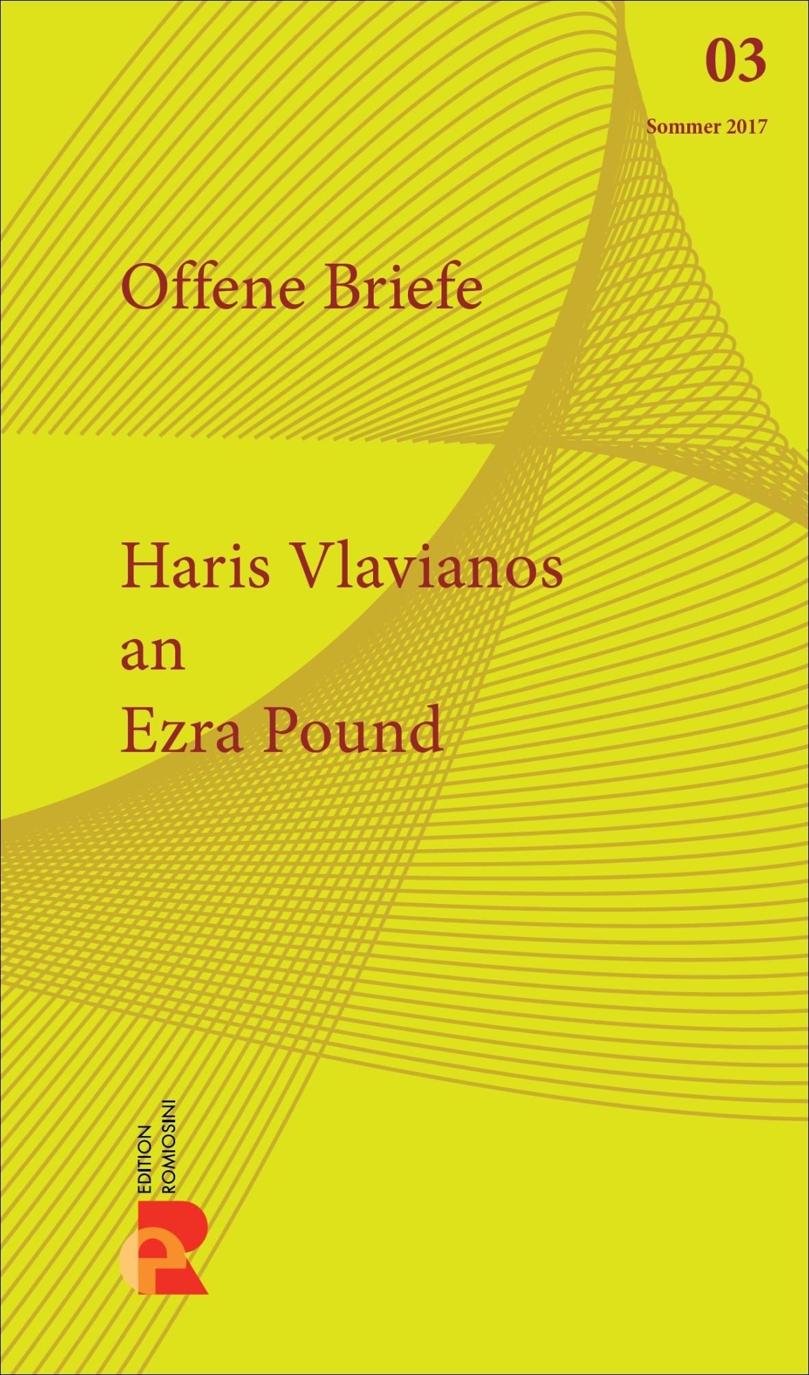 Titelbild für Brief an Ezra Pound