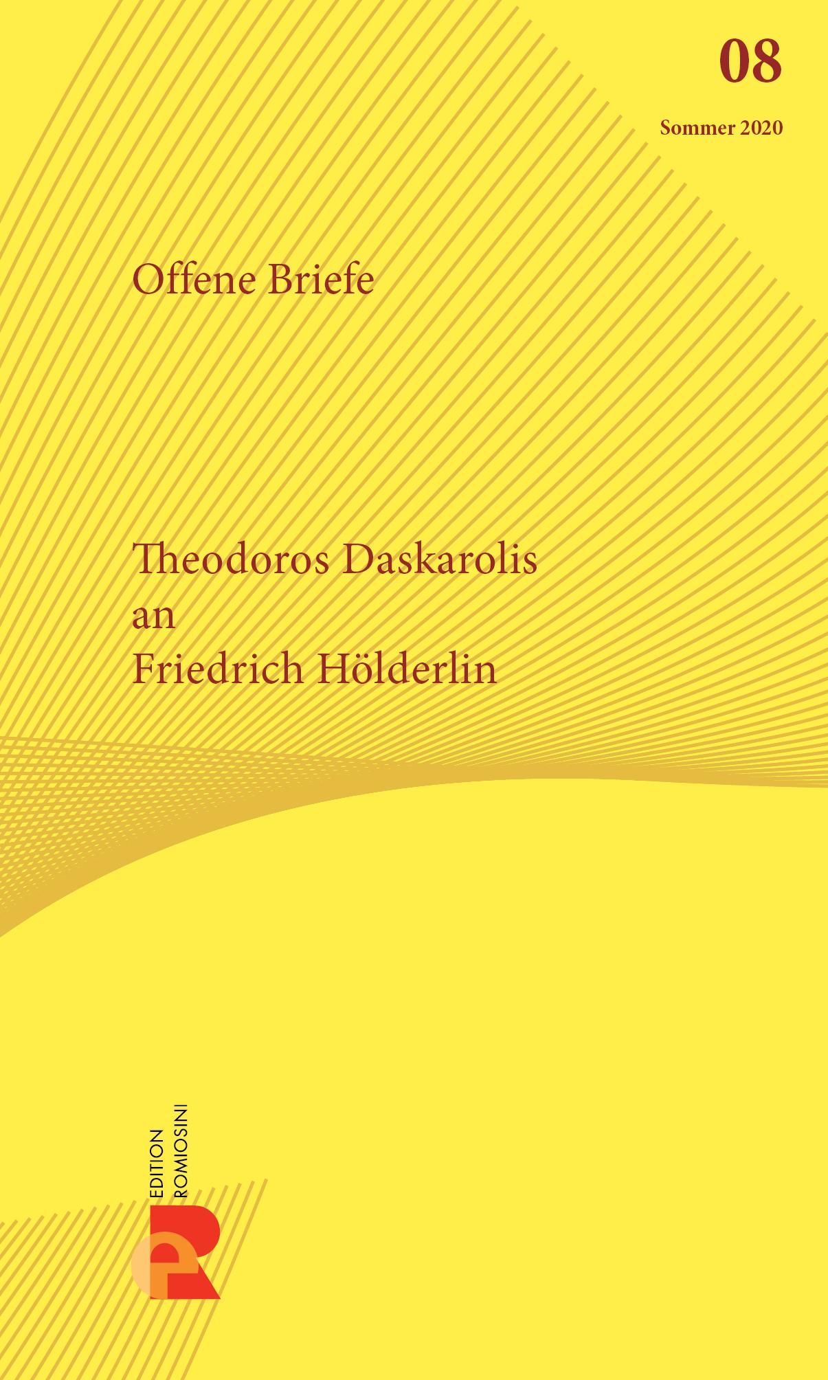 Titelbild für Brief an Friedrich Hölderlin